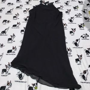 Vintage Jones Wear Asymmetrical Black Dress sz 16